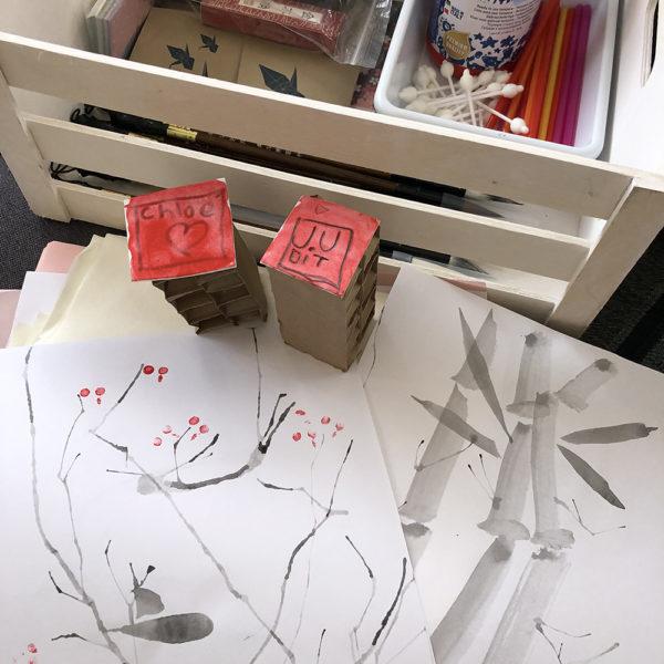 pintura SUMI-E para niños