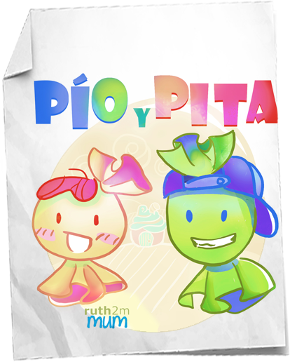 PIOyPITA, ilustración de caramelos para un cuento infantil